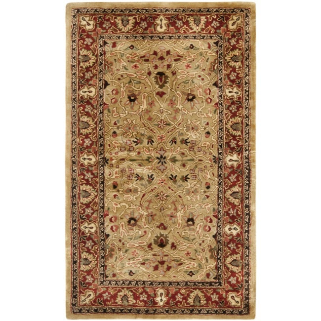 Safavieh Handmade Persian Legend Gold/ Rust Wool Rug (3' x 5')