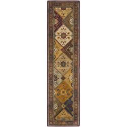 Handmade Persian Legend Multi/ Rust Wool Rug (2'6 x 12')