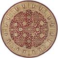 Handmade Persian Legend Red/ Light Brown Wool Rug (6' Round)