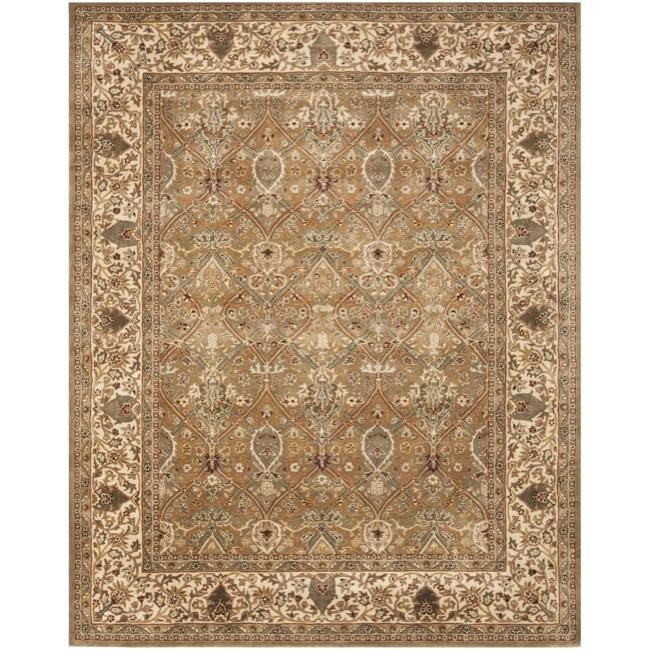 Safavieh Handmade Persian Legend Light Green/ Beige Wool Rug (7'6 x 9'6)