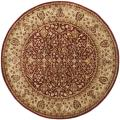 Safavieh Handmade Persian Legend Rust/ Beige Wool Rug (3'6 Round)