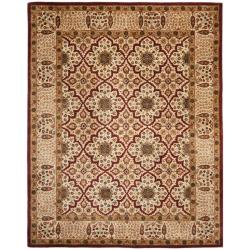Handmade Persian Legend Beige Wool Rug (7'6 x 9'6)