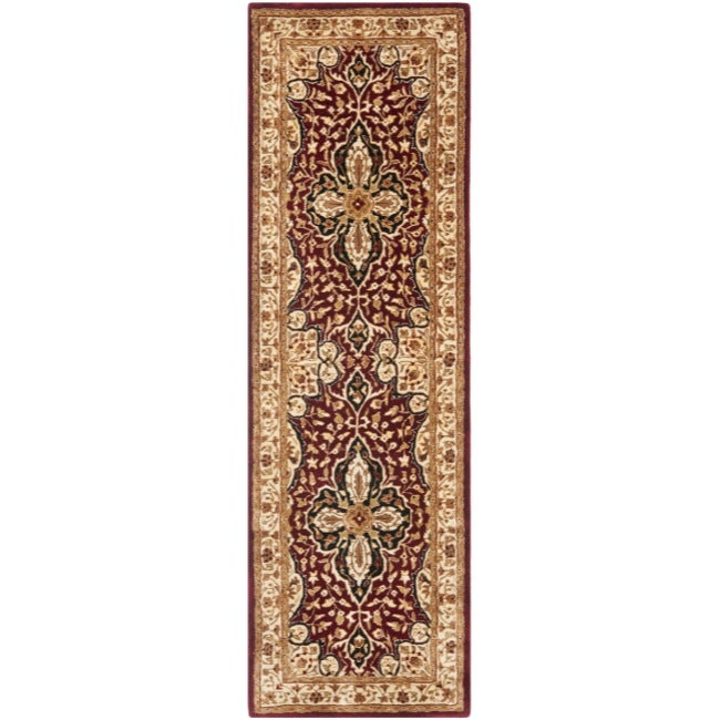 Safavieh Handmade Persian Legend Red/ Beige Wool Rug (2'6 x 8')