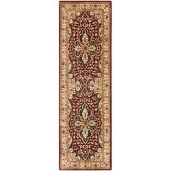 Handmade Persian Legend Red/ Beige Wool Rug (2'6 x 8')