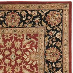 Handmade Persian Legend Rust/ Black Wool Rug (7'6 x 9'6)