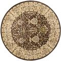 Handmade Persian Legend Brown/ Beige Wool Rug (6' Round)
