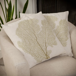 Christopher Knight Home Beige Embroidered Pillows (Set of 2)