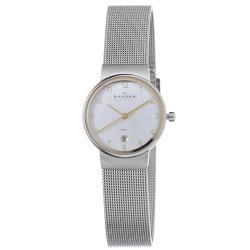 Skagen Men's Stainless Steel Mesh Two-tone Watch