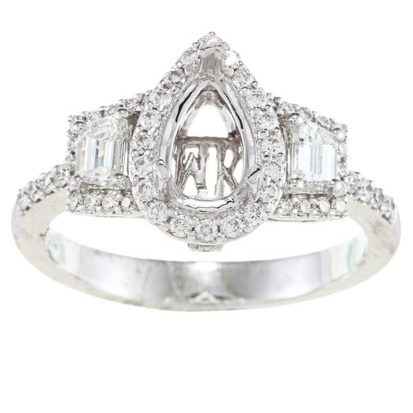 14k Gold 3/4ct TDW Diamond Semi Mount Engagement Ring (G-H, SI1-SI2)