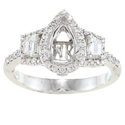 18k Gold 3/4ct TDW Diamond Semi Mount Engagement Ring (G-H, SI1-SI2)