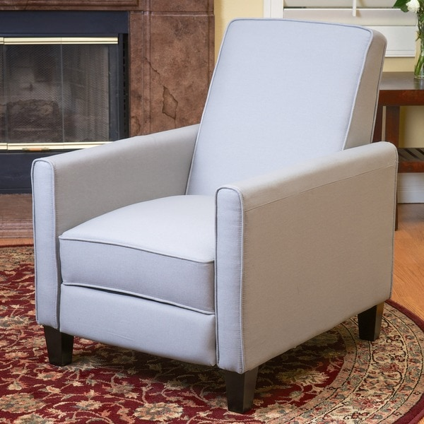 Christopher Knight Home Darvis Grey Fabric Recliner Club Chair