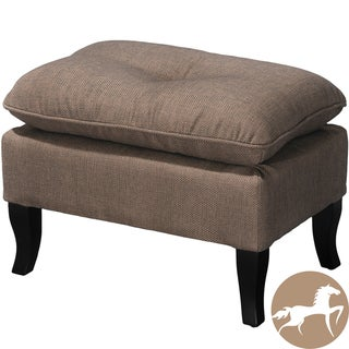 Christopher Knight Home Loma Grey Brown Fabric Ottoman
