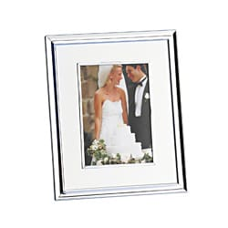 Towle Thick Glass Ivory Linen Mat Frame (5x7)
