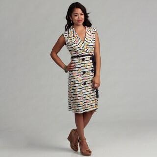 Floral & Stripe Button Dress