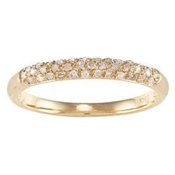 10k Yellow Gold 1/5 TDW Pave Diamond Band (G-H, I1-I2)