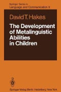 The Development of Metalinguistic Abilities in Children (Paperback)