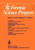 Forensic Science Progress (Paperback)
