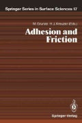 Adhesion and Friction: Proceedings of the Third International Workshop on Interface Phenomena, Dalhousie Universi... (Paperback)