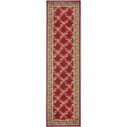 Safavieh Lyndhurst Trellis Gardens Red/ Black Rug (2'3 x 12')