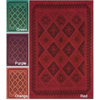 nuLOOM Handmade Flatweave Country Wool Rug (5' x 8')