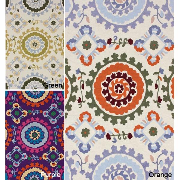 nuLOOM Handmade Modern Suzani Rug (7'6 x 9'6)