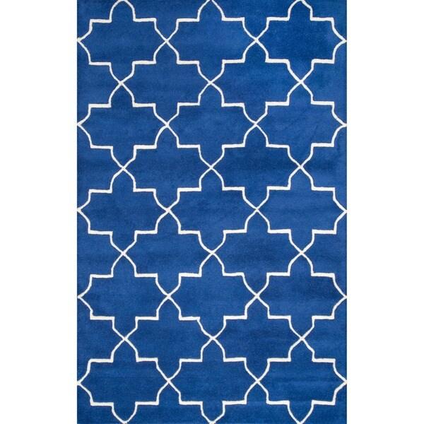 nuLOOM Handmade Luna Moroccan Trellis Wool Rug (8'3 x 11')
