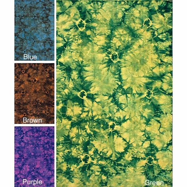 nuLOOM Handmade Flatweave Tie Dye Kilim Wool Rug (5' x 8')