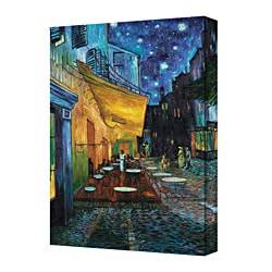 Vincent Van Gogh 'The Café Terrace on the Place du Fourm, Arles' 8 x 12 Gallery Wrapped Canvas