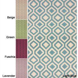 Handmade Flat-Weave Moroccan Kilim Abstract Wool Rug (8' x 10')