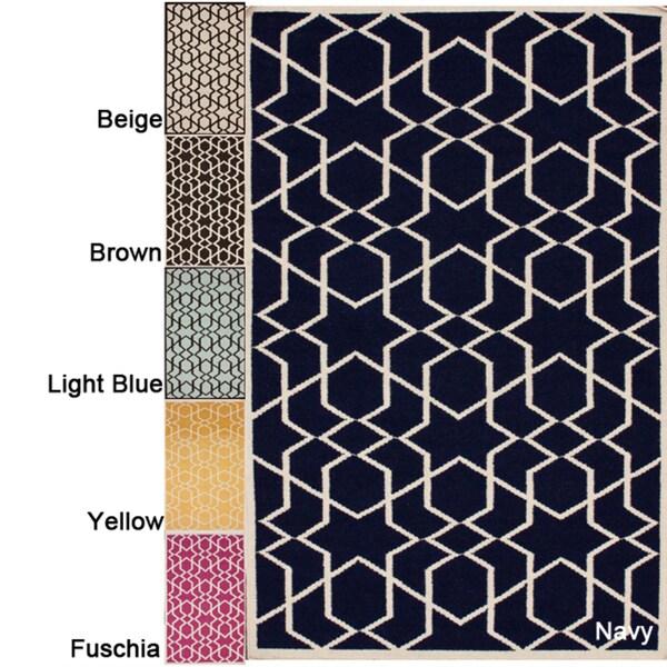 nuLOOM Handmade Flatweave Marrakesh Kilim Wool Rug (8' x 10')