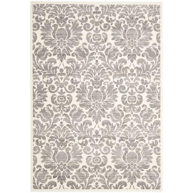 Safavieh Damask Ivory/ Grey Pile Rug (8' x 11'2)