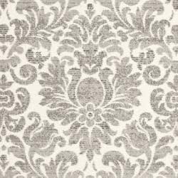 Damask Ivory/ Grey Pile Rug (8' x 11'2)