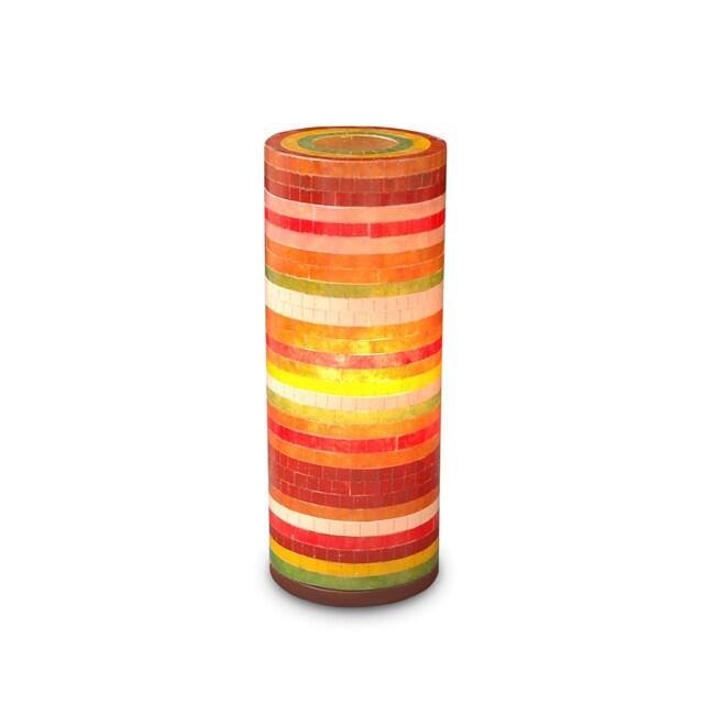 Decorative Red Contemporary Santa Ana Table Lamp