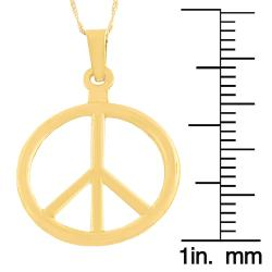 Fremada 14k Yellow Gold Peace Sign Pendant Goldfill Singapore Chain