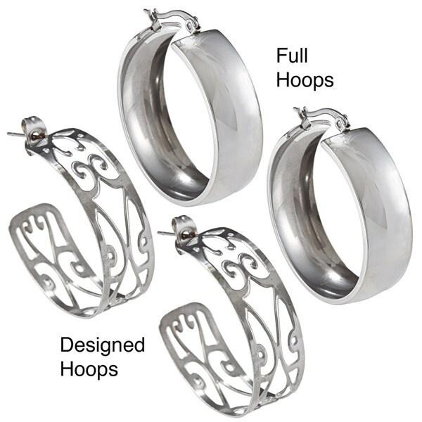 La Preciosa Stainless Steel Hoop Earrings