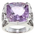 Sterling Silver Amethyst and 3/8ct TDW Diamond Ring (J-K, I2-I3)
