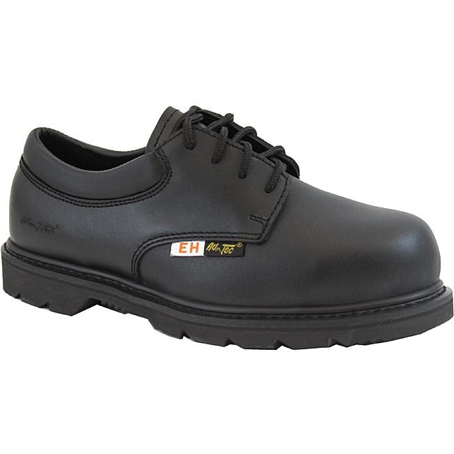 AdTec 1586L 4-Inch Composite Toe Electrical Hazard Uniform Black Oxford Rubber-Sole Work Boots