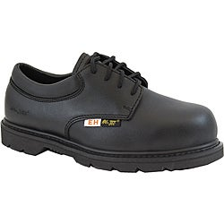 AdTec 1586L 4-Inch Composite Toe Electrical Hazard Uniform Black Oxford Rubber-Sole Work Boots