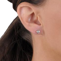 Tressa Collection Sterling Silver Basketball Stud Earrings