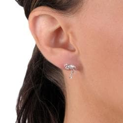 Tressa Collection Sterling Silver Flamingo Stud Earrings