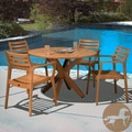 Christopher Knight Home Lombardi Eucalyptus Wood 5-piece Outdoor Dining Set