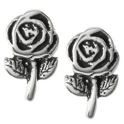 Tressa Collection Sterling Silver Rose Stud Earrings