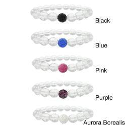 Icz Stonez Crystal And Fireball Stretch Bracelet