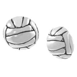 Tressa Collection Sterling Silver Volleyball Stud Earrings