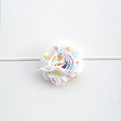 Itty Bitty Multicolored Dot Flower Headband