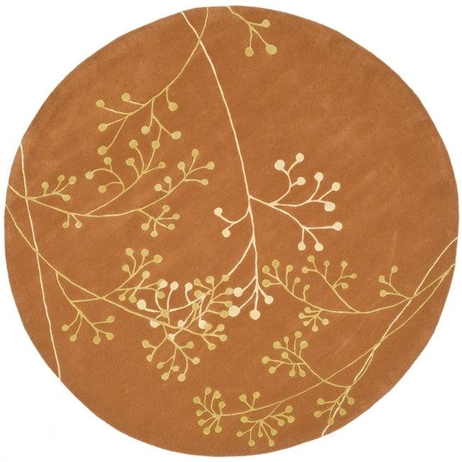 Safavieh Handmade Vine Rust New Zealand Wool Area Rug (6' Round)