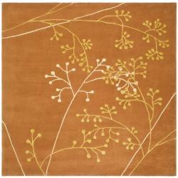 Safavieh Handmade Vine Rust New Zealand Wool Rug (6' Square)