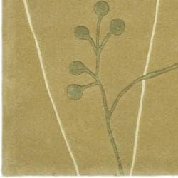 Safavieh Handmade Vine Sage New Zealand Wool Rug (7'6 x 9'6)