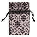 Caddy Bay Collection 48 piece Organza Damask Drawstring Pouches Gift Bags