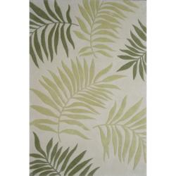 Safavieh Handmade Ferns Ivory New Zealand Wool Rug (7'6 x 9'6)